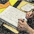 Journaling to achieve goals.